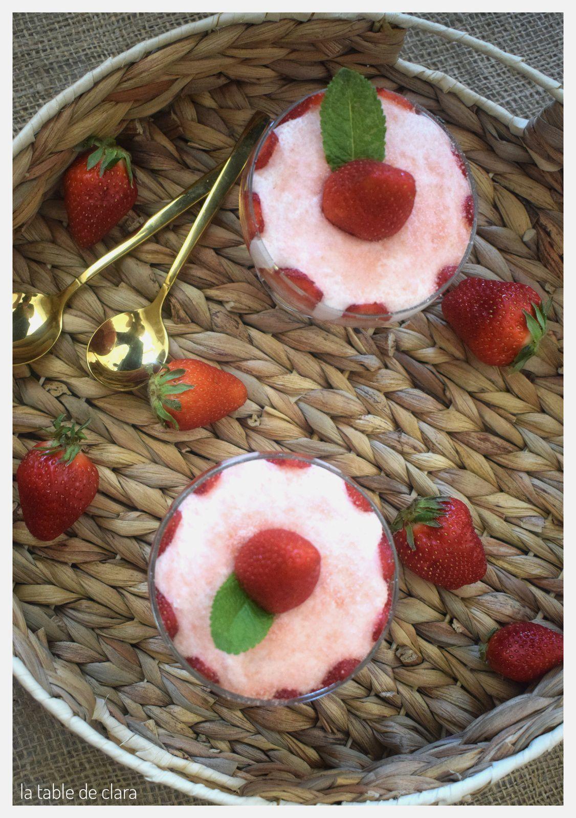 Coupe gourmande à la fraise