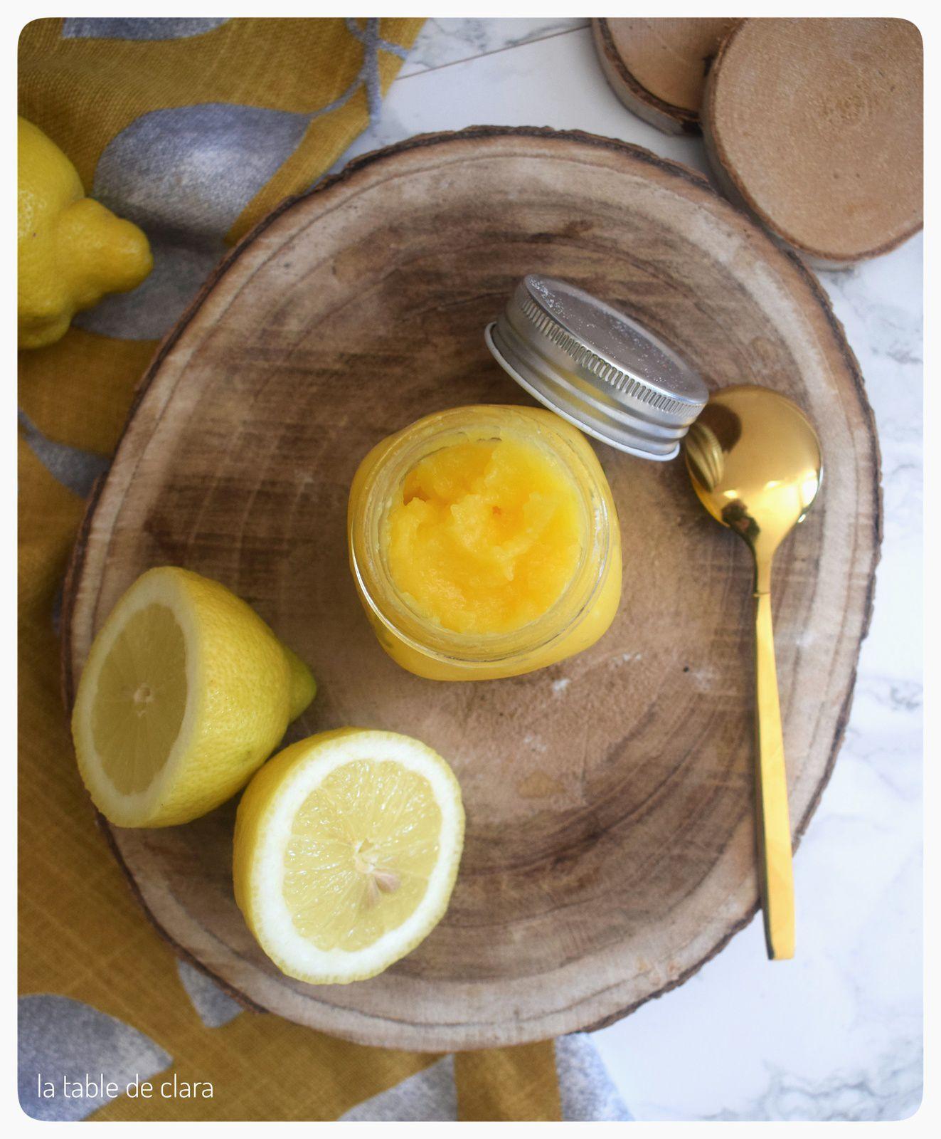 Curd de citron au micro-ondes