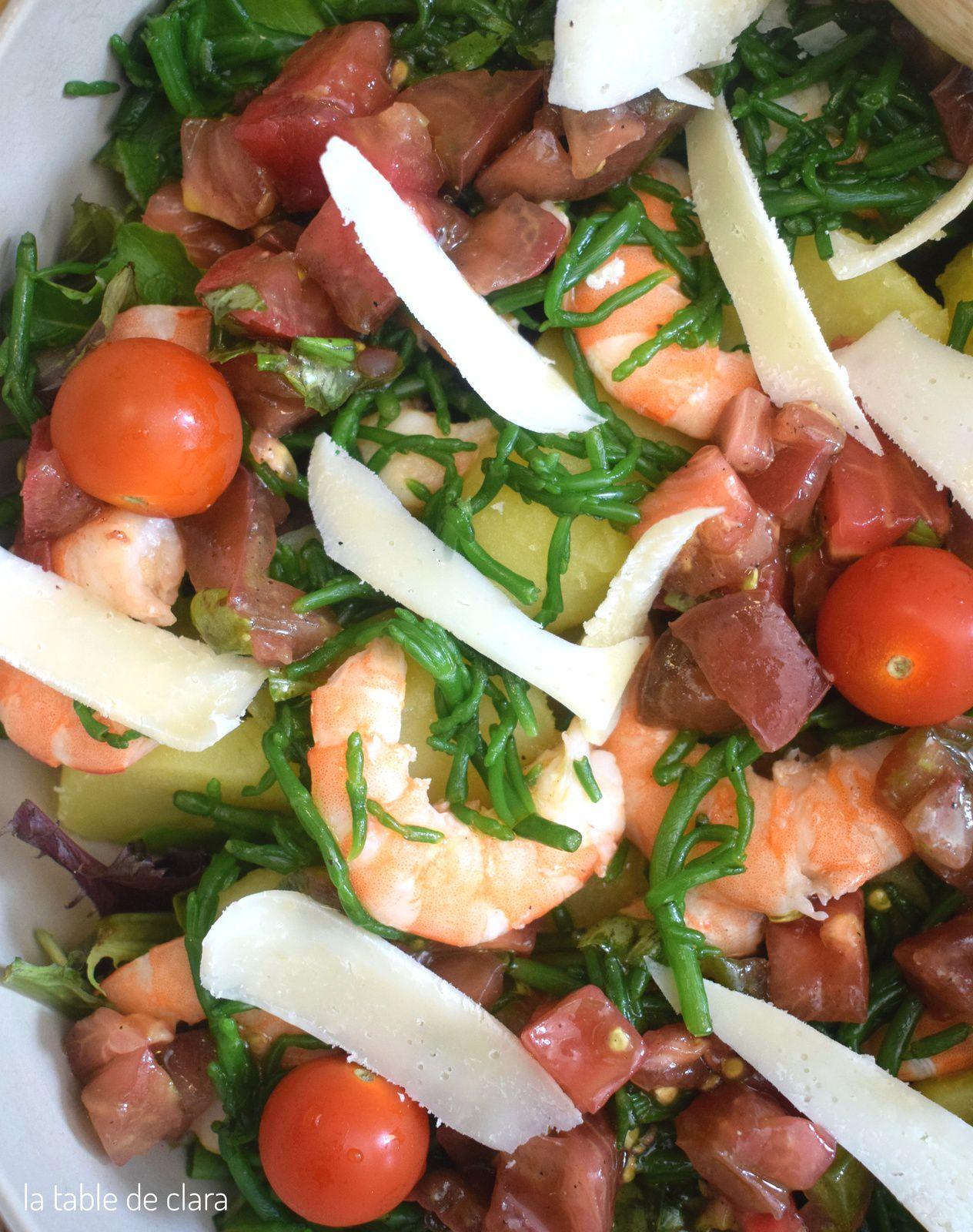 Salade composée - Sauce vierge
