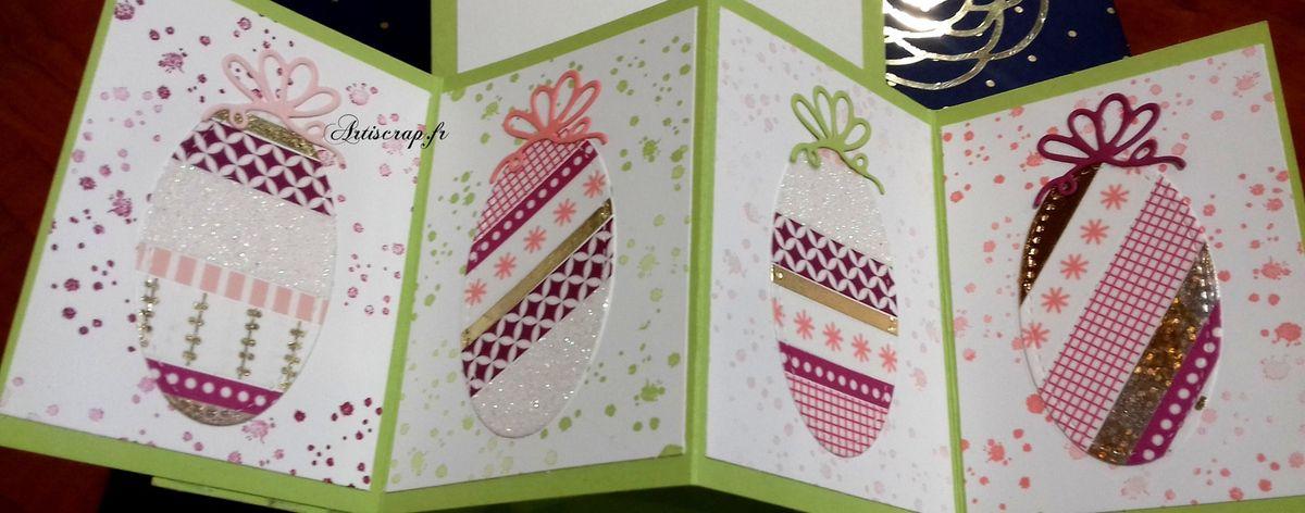 Carte twist and pop pour souhaiter Pâques