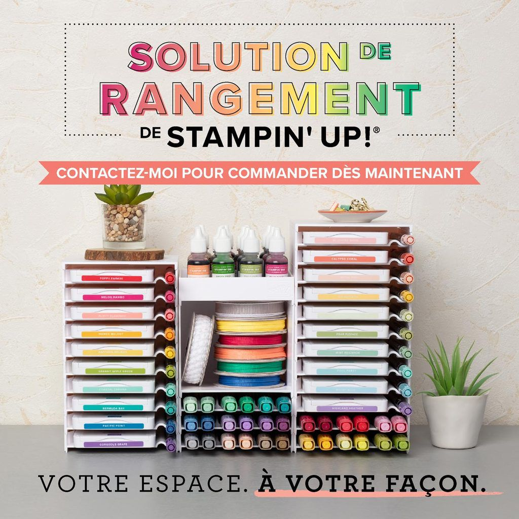 rangements modulables Stampin'up!