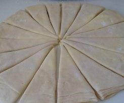 Abaisse, Découpage des 16 croissants, Roulage du croissant