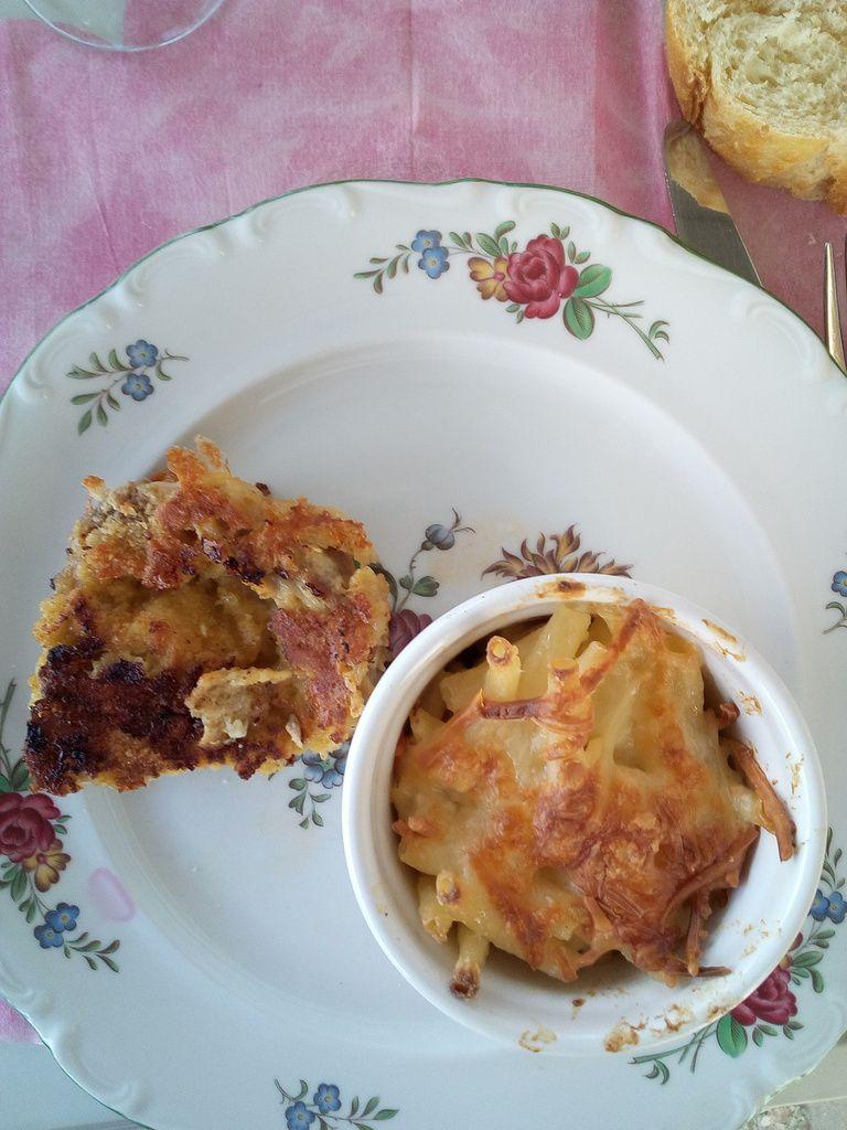 Gratin de macaroni au parmesan et à la crème Cordon Rose