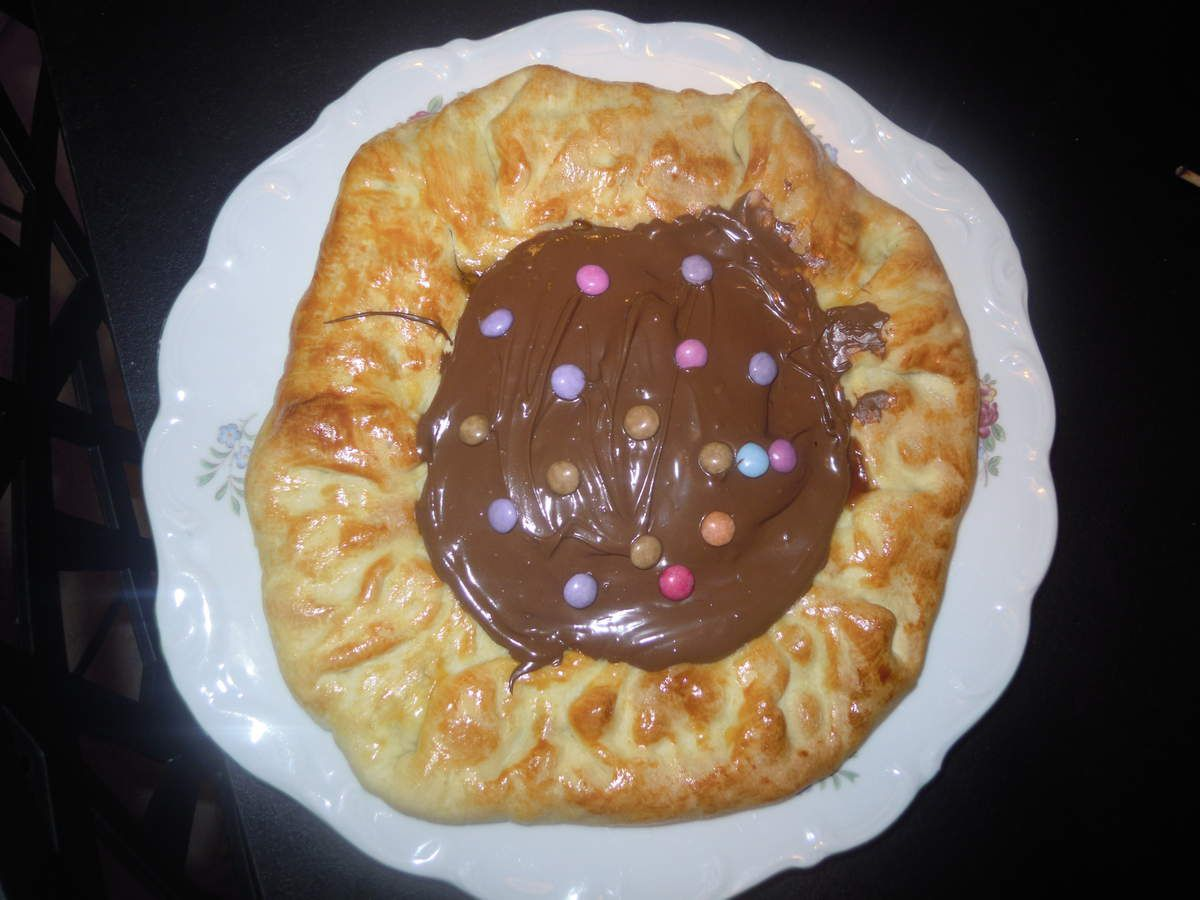 Pizza Smarties et Nutella