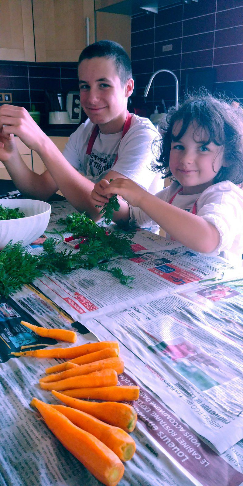 Velouté de fanes de carottes Thermomix