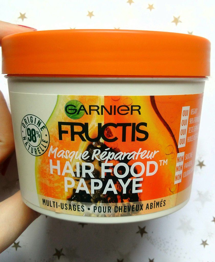 Garnier, Fructis, Hair Food, Papaye