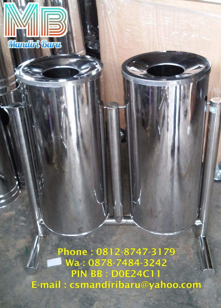 tempat sampah stainless 2 in 1
