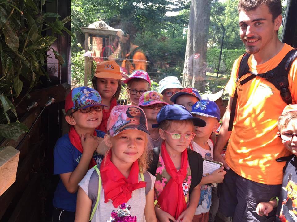 Nous sommes bien arrivés  au zoo