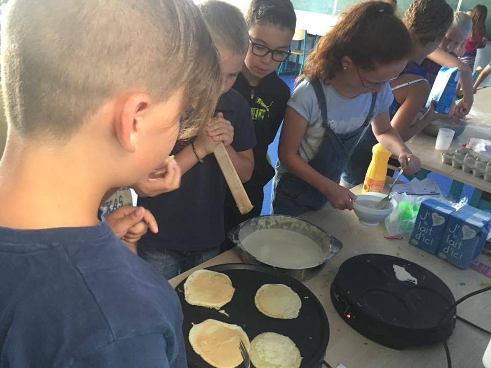 activité culinaire - Pancakes - hum miam miam !