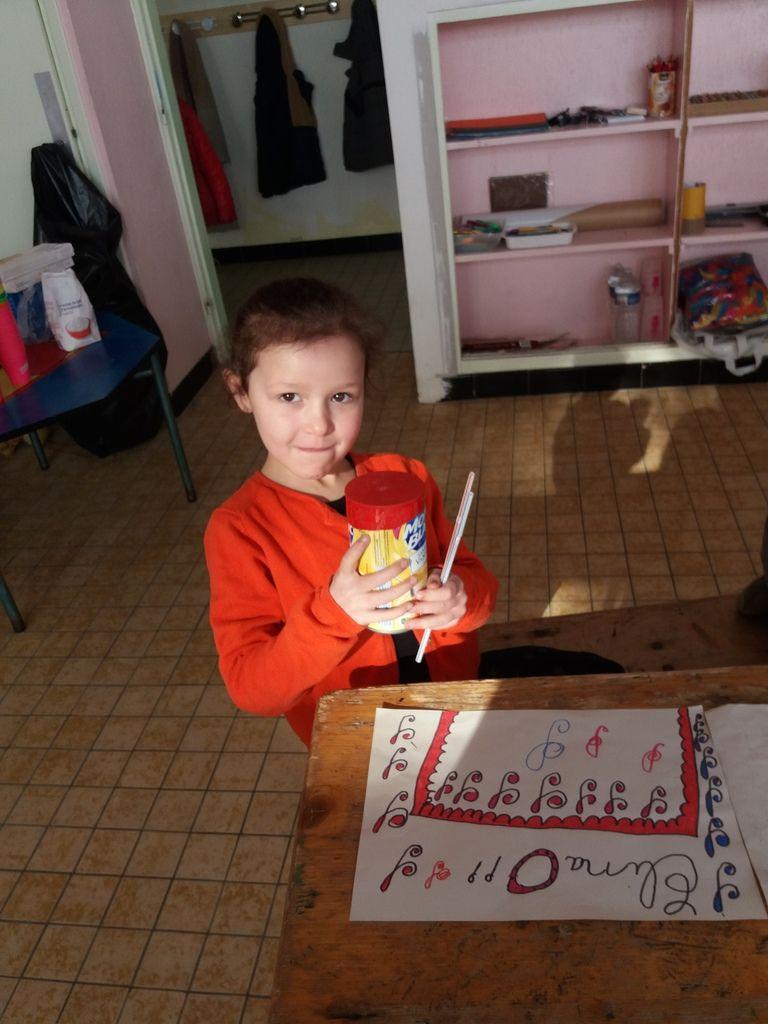 Création de tambour pour les 6-7 ans