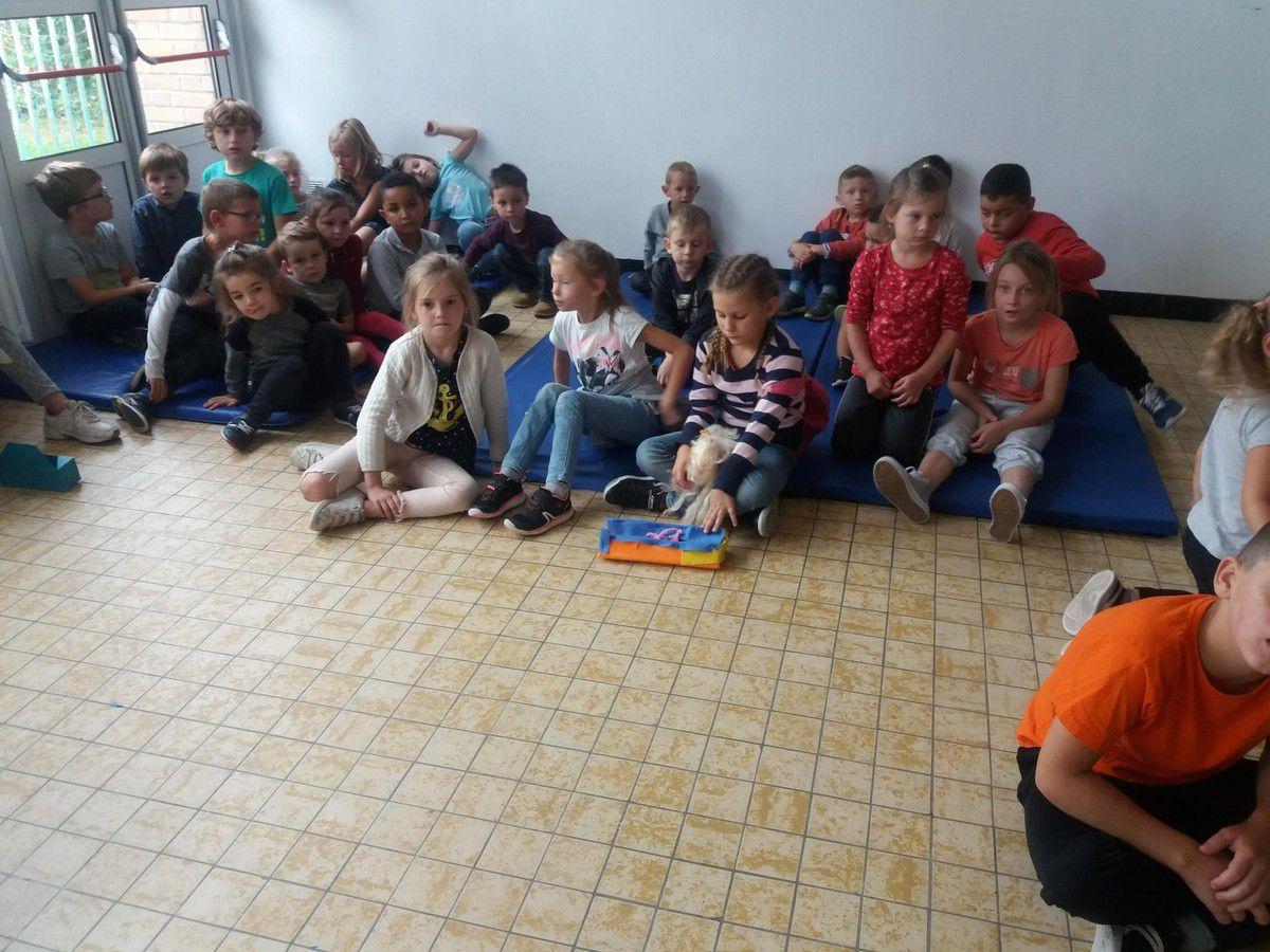 C'est la rentrée aidons le maître et les enfants à faire leur cartable, petite épreuve pour compléter la trousse