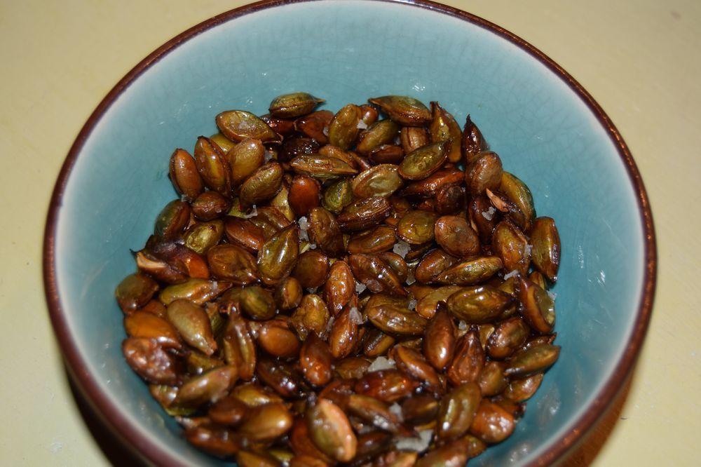 Une courge = un bol de graines grillées !