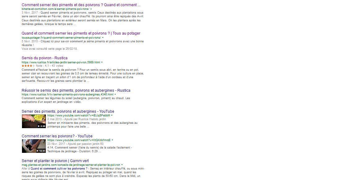 """La recherche """"comment semer les poivrons"""" dans google ramène  74 300 résultats... avec des constantes, mais aussi de grandes différences. Comment s'y retrouver ? En faisant ses propres expériences."""