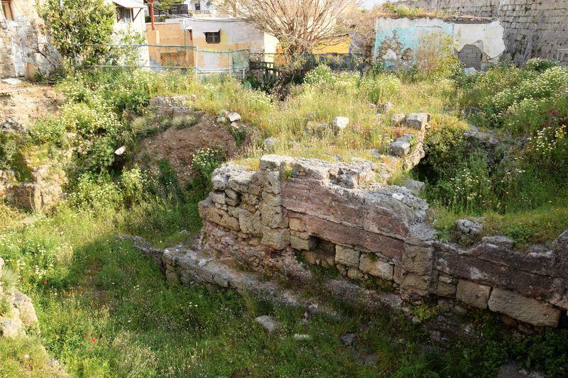 """La deuxième photo est un salsifis cultivé, sans doute échappé d'un jardin voisin. Sinon, si ça vous intéresse, il s'agit ici des ruines d'un """"Roman Triconch Building"""""""