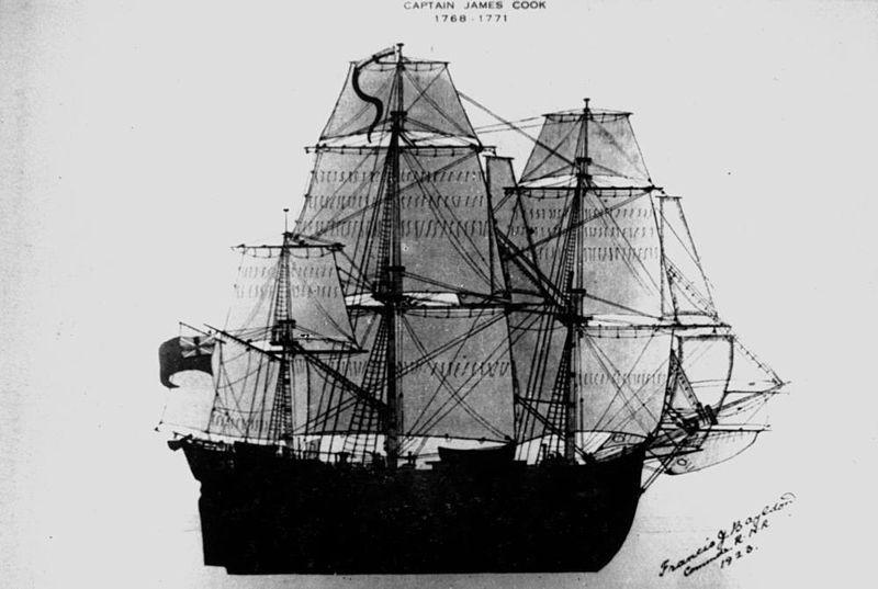 L'Endeavour de James Cook