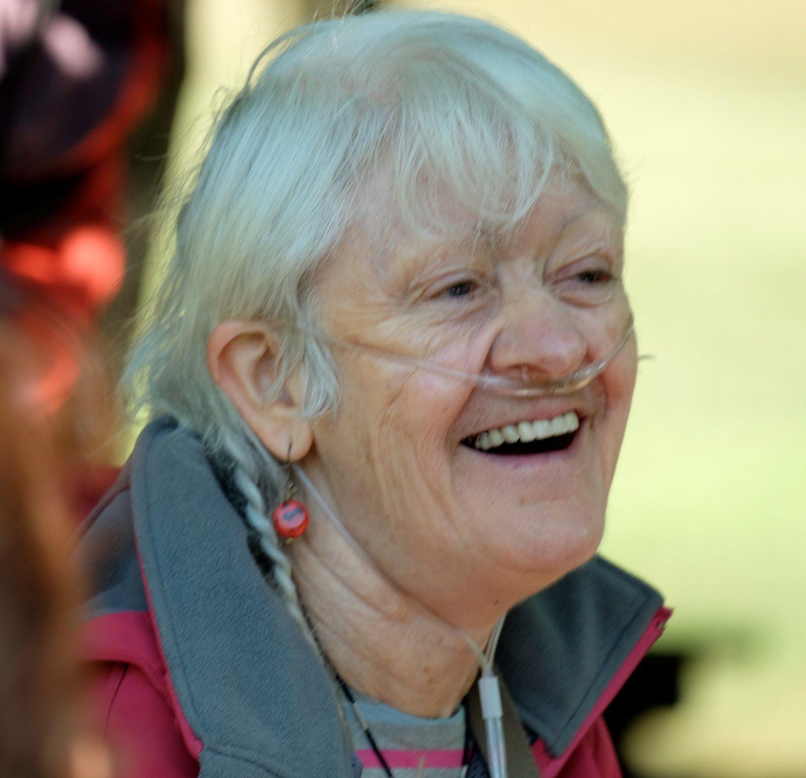 Marie-Françoise, toujours souriante. (Photo AAT)