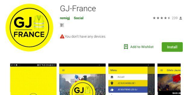 Le mouvement Gilet Jaunes lance son application smartphone