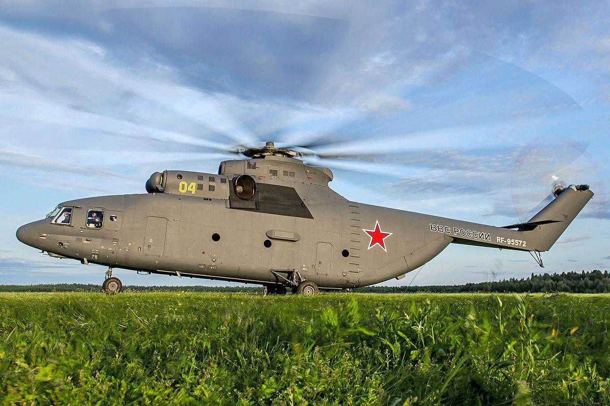 Le Mi-26, le plus grand hélicoptère du monde.