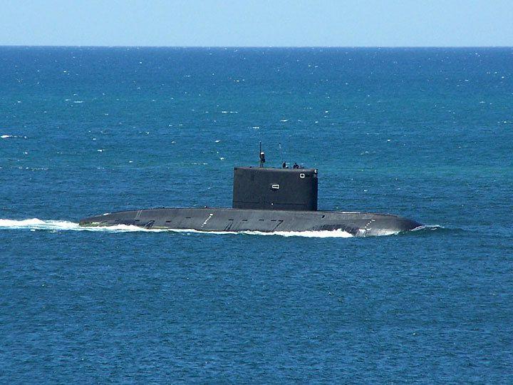"""Les sous-marins conventionnels Kilo, surnommés """"trous noirs"""""""