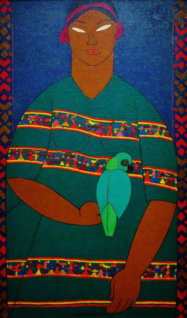 La fille à la perruche - Carlos Merida 1917 - Copyright mycottoncloud