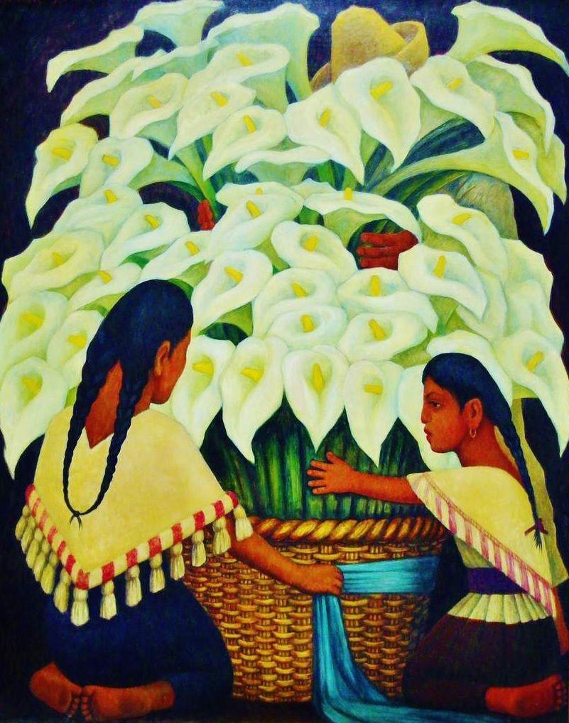 Vendeuses d'arums - Diego Riveira 1942 - Copyright mycottoncloud