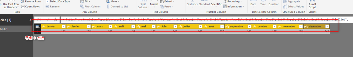 Power Bi : Transformer un tableau horizontal en tableau vertical