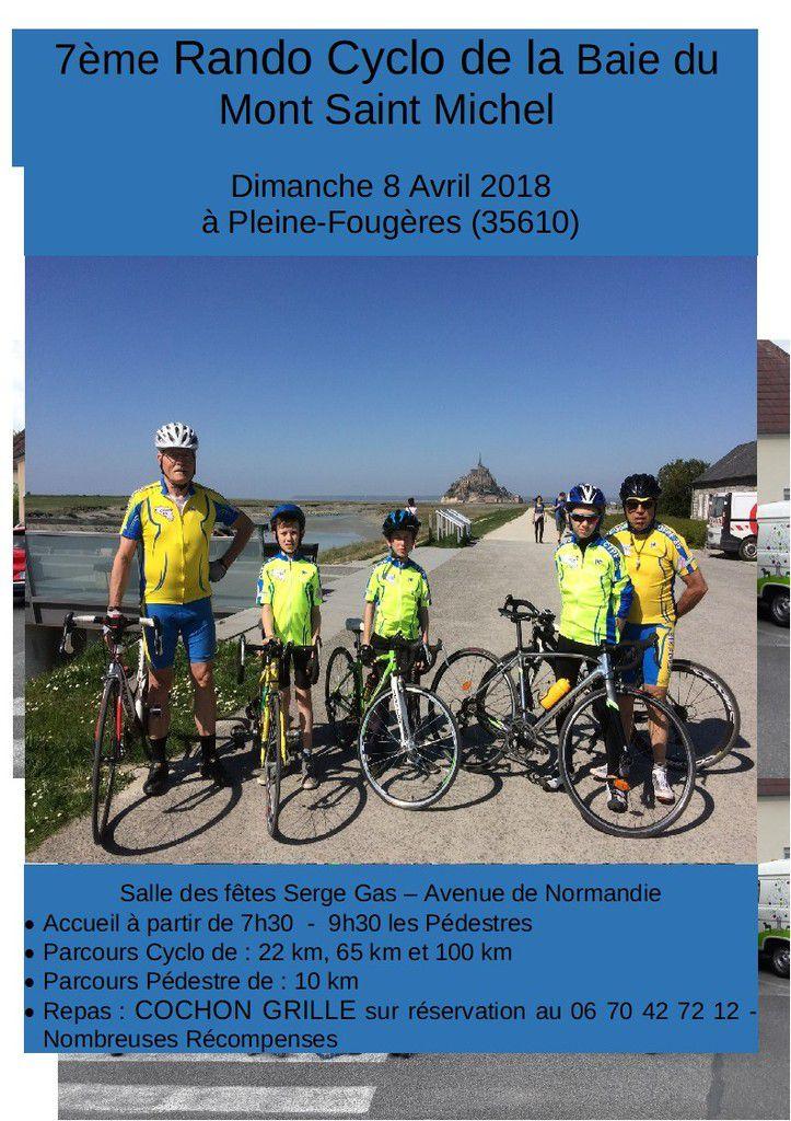 Randonnées du 22 avril et 1 er mai organisées par le club vtt-cyclo-Trélivan