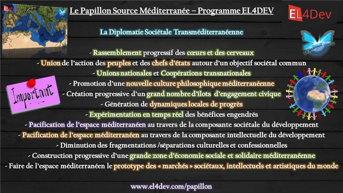 Une Diplomatie Sociétale méditerranéenne - Le Papillon Source EL4DEV