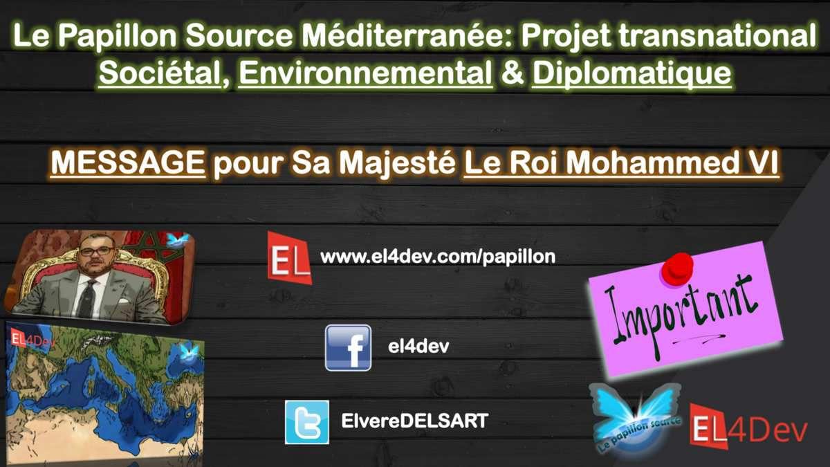 Le Papillon Source Méditerranée - Rôle Mohammed VI http://www.el4dev.com/papillon/