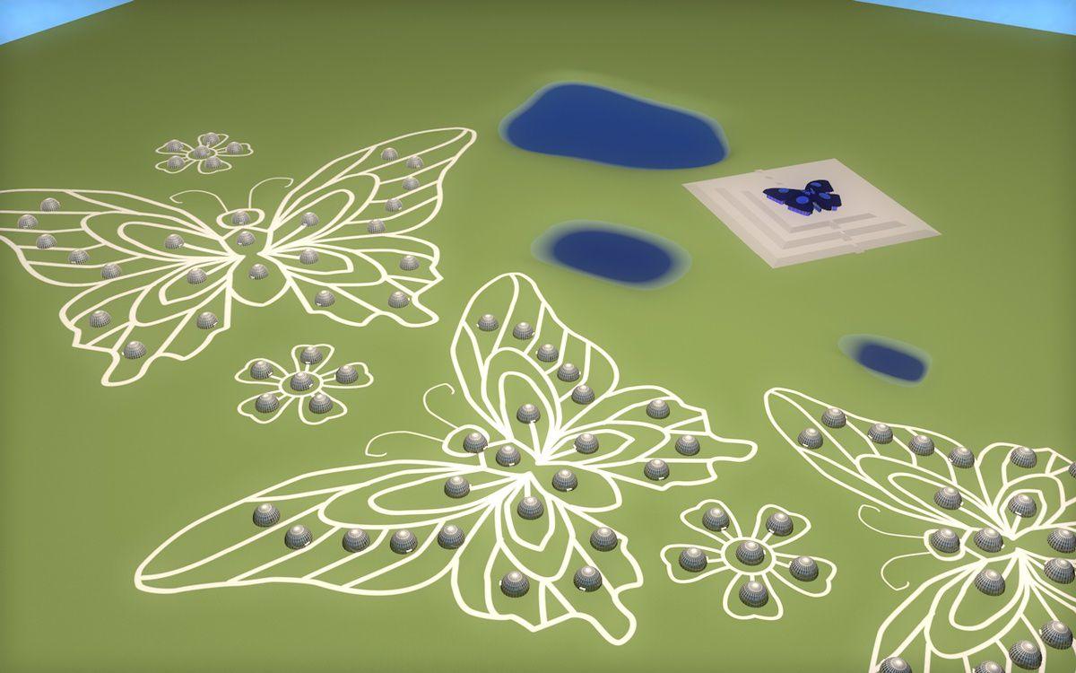 Le papillon source concept art 3D