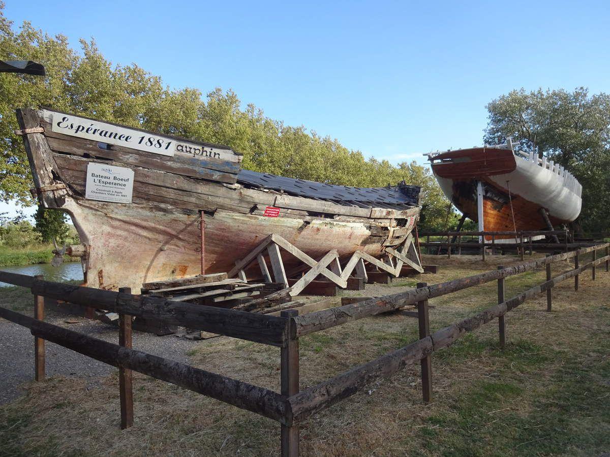 Chantier de charpenterie de marine à Mandirac