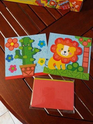 Activités pour enfants , apprendre à découper, faire des mosaïques et perforer avec SES CREATIVE