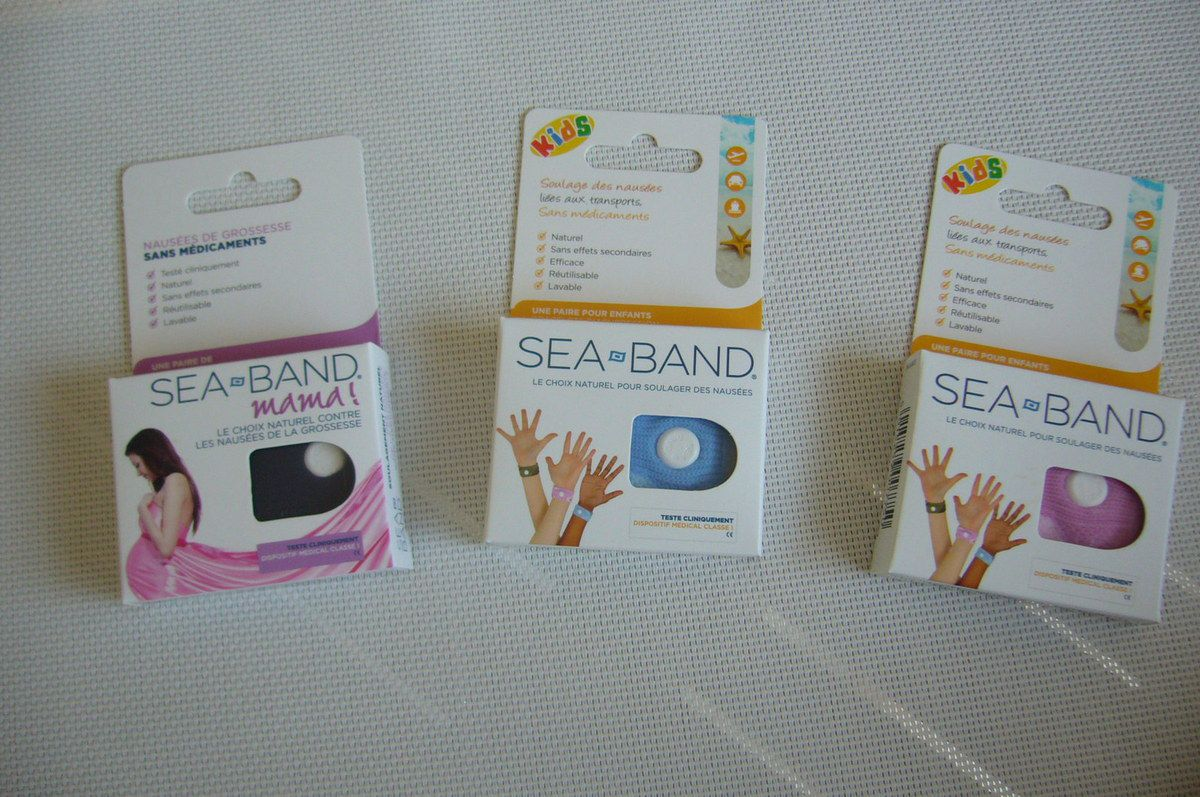 La solution au mal des transports avec les bracelets SEA-BAND