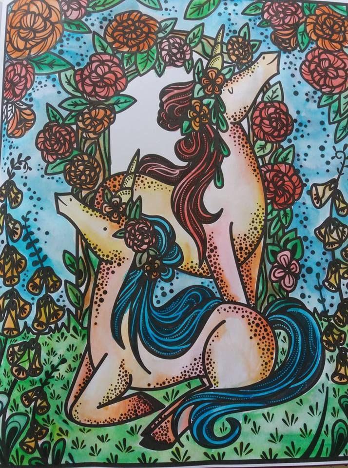 peinture magique licorne