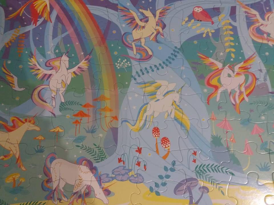 Les licornes - coffret livre et puzzle - Editions Usborne