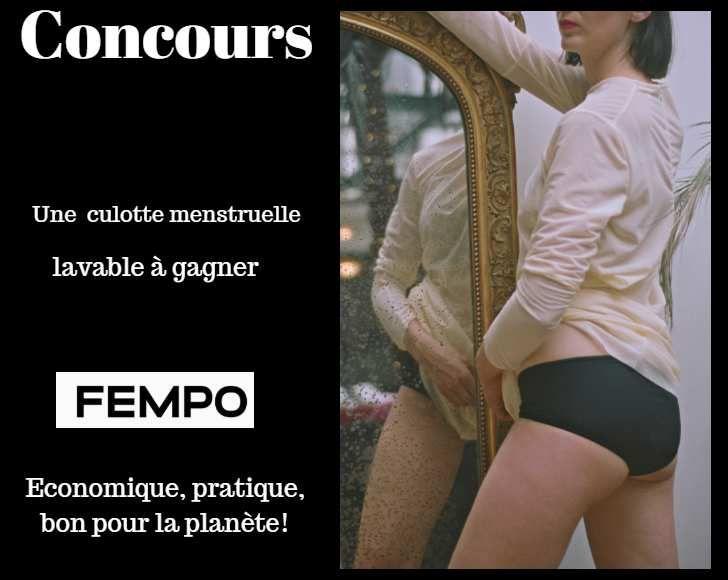 concours culotte menstruelle lavable