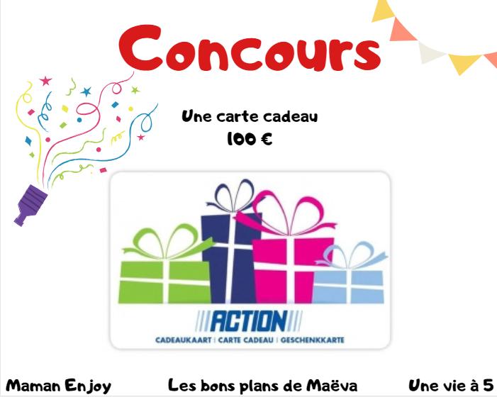 concours carte cadeau Action