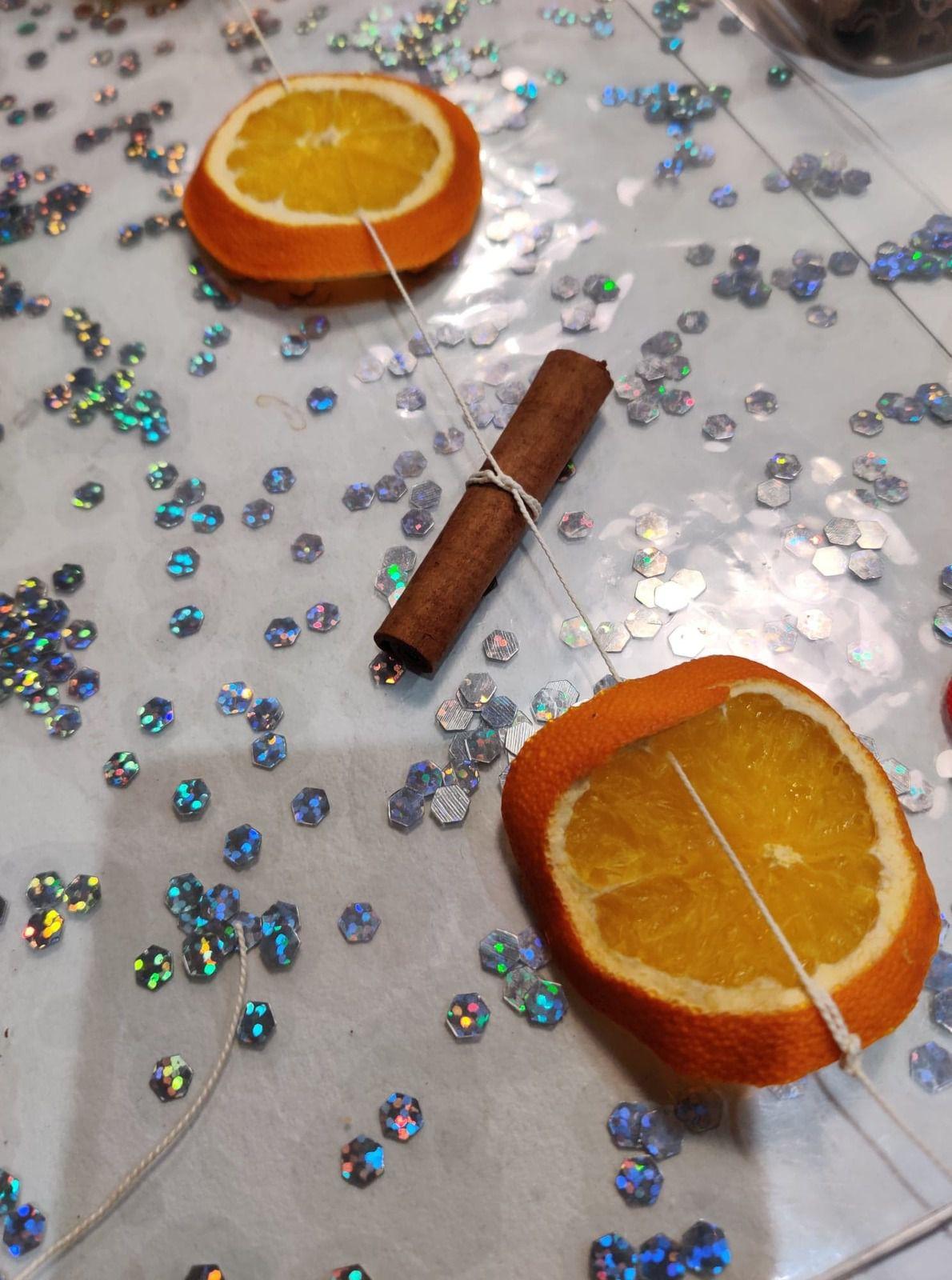 guirlande d'orange