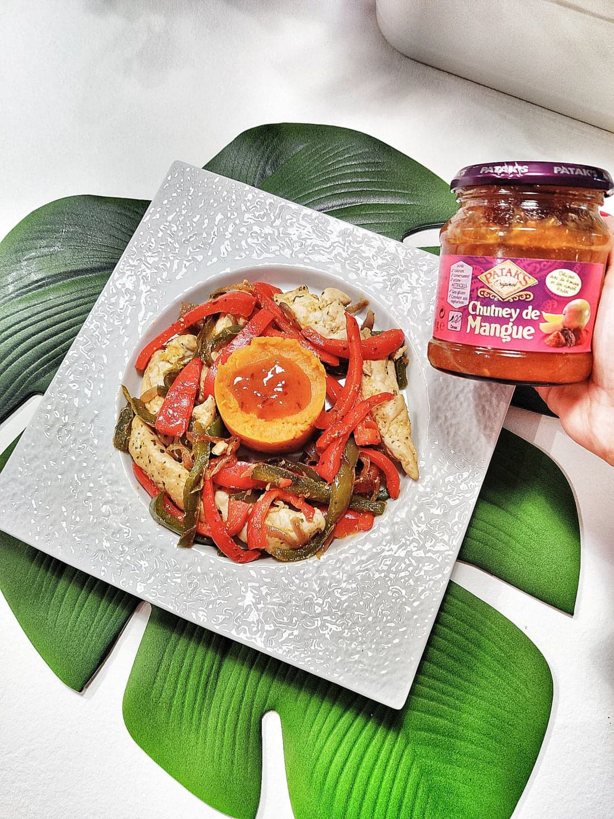 recette émincé de dinde au chutney de mangue