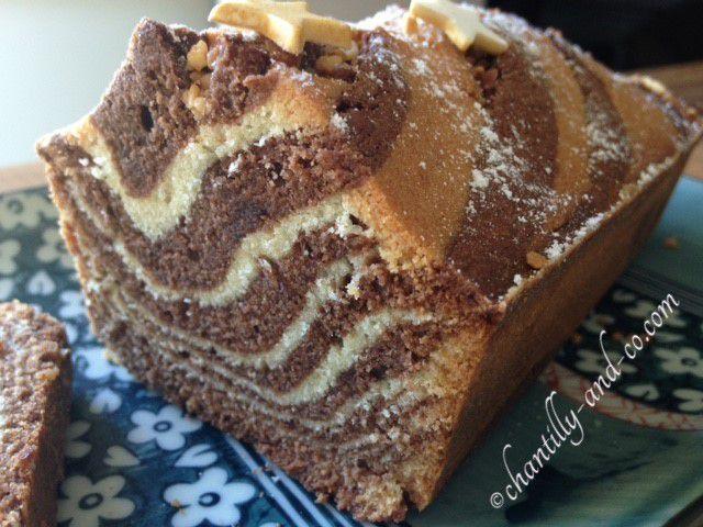 cake marbré zébra