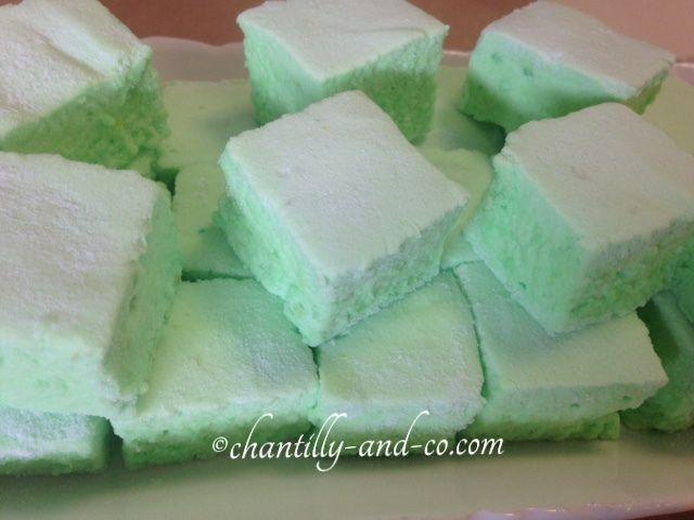 Guimauve citron vert et rhum façon mojito