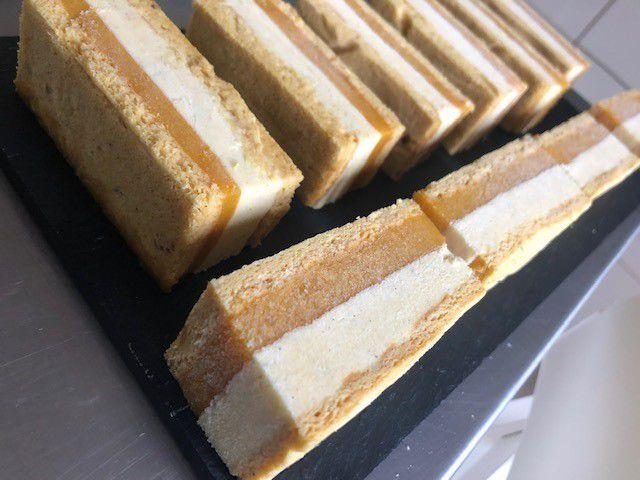 Mini entremets mangue vanille pour Noël