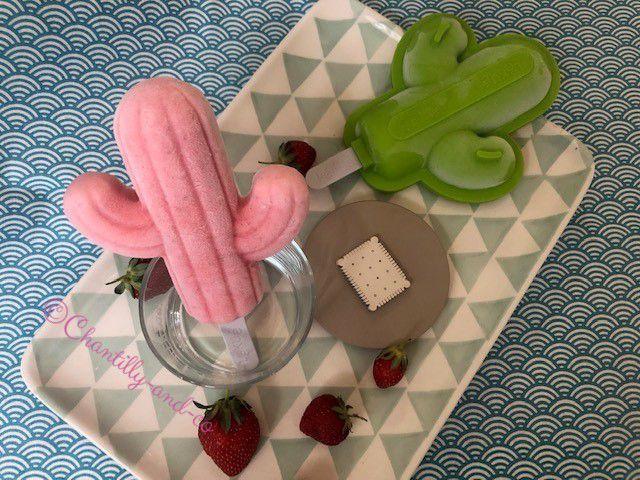 Glace cactus fraise et yaourt