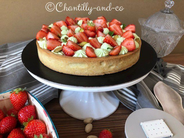 tarte fruits rouges pistaches