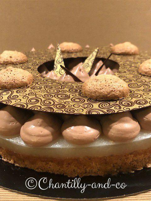 Dacquoise poire chocolat