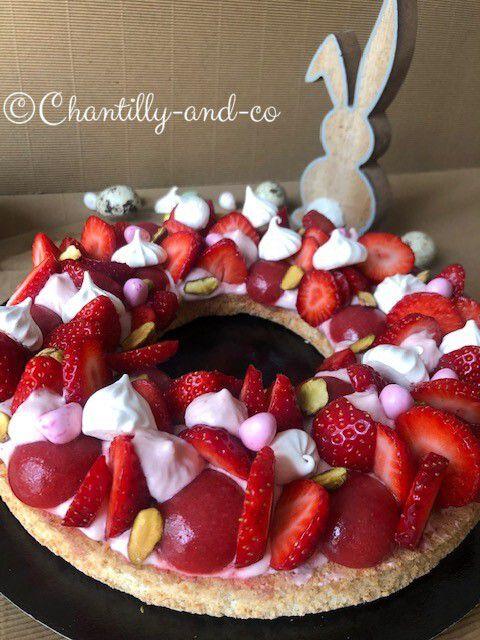 Couronne de Pâques à la fraise