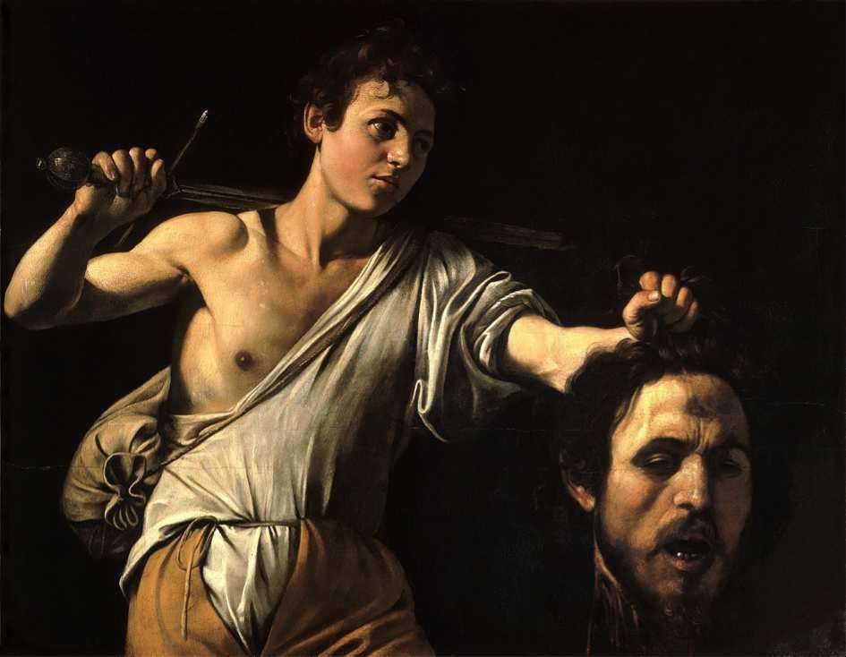 Le Caravage 1571-1610. David avec la tête de Goliath. 1606-1607 ou 1609-1610. Rome, Galleria Borghese.
