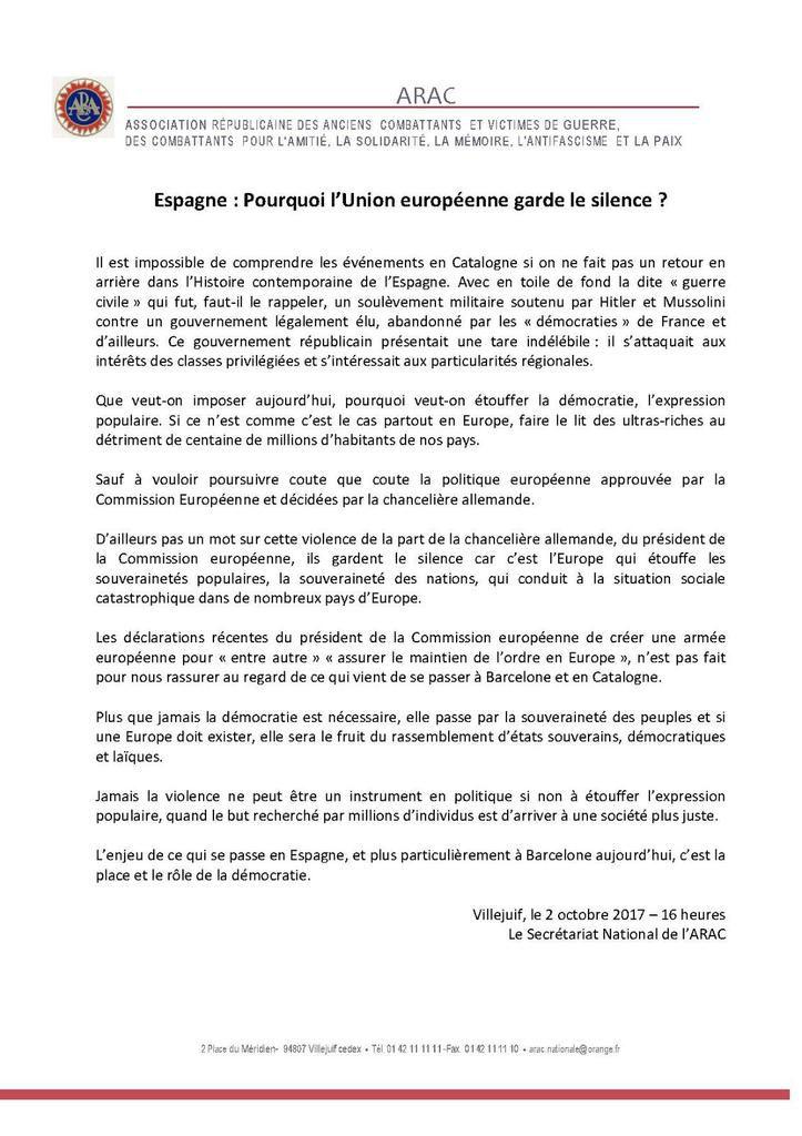 Espagne : Pourquoi l'Union européenne garde le silence ?