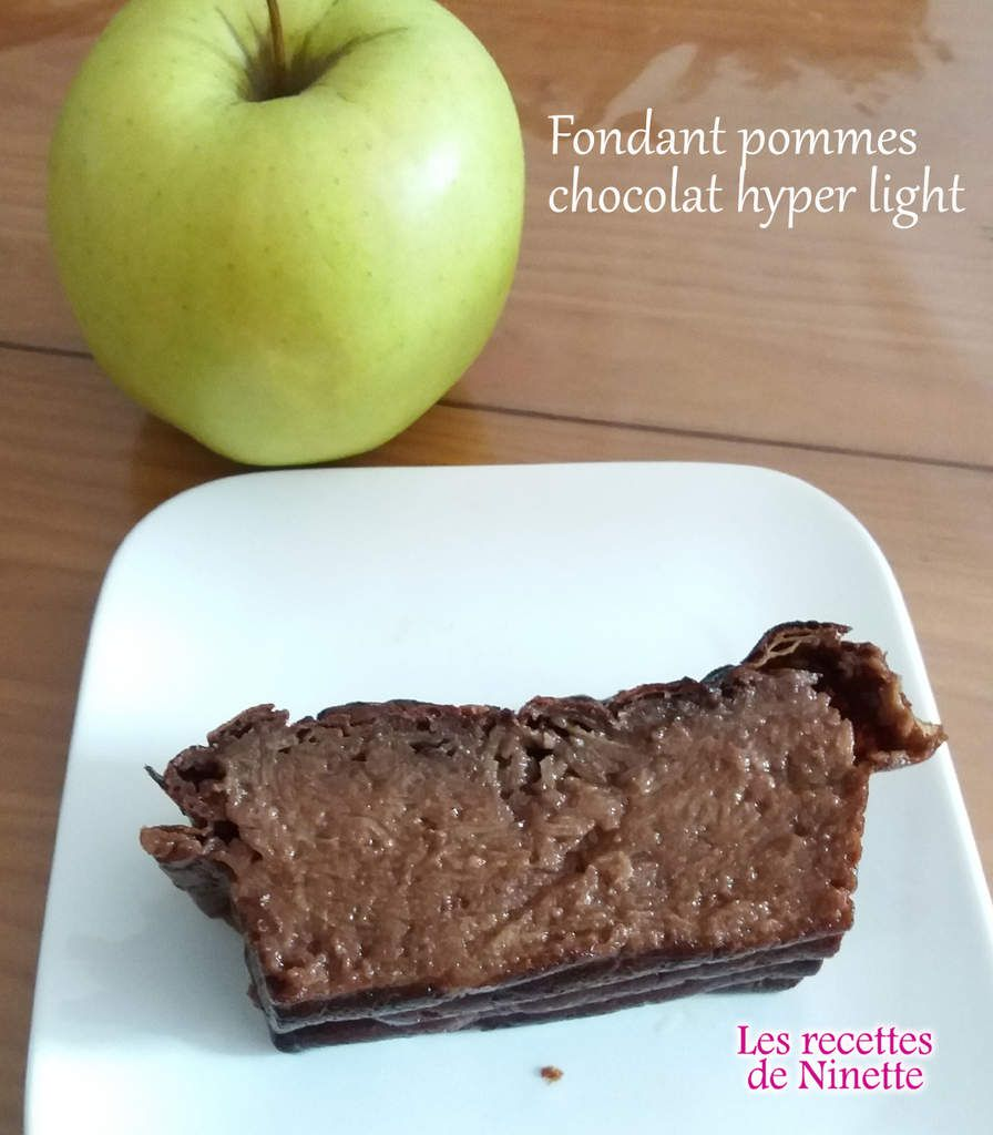 Fondant pommes chocolat hyper light WW