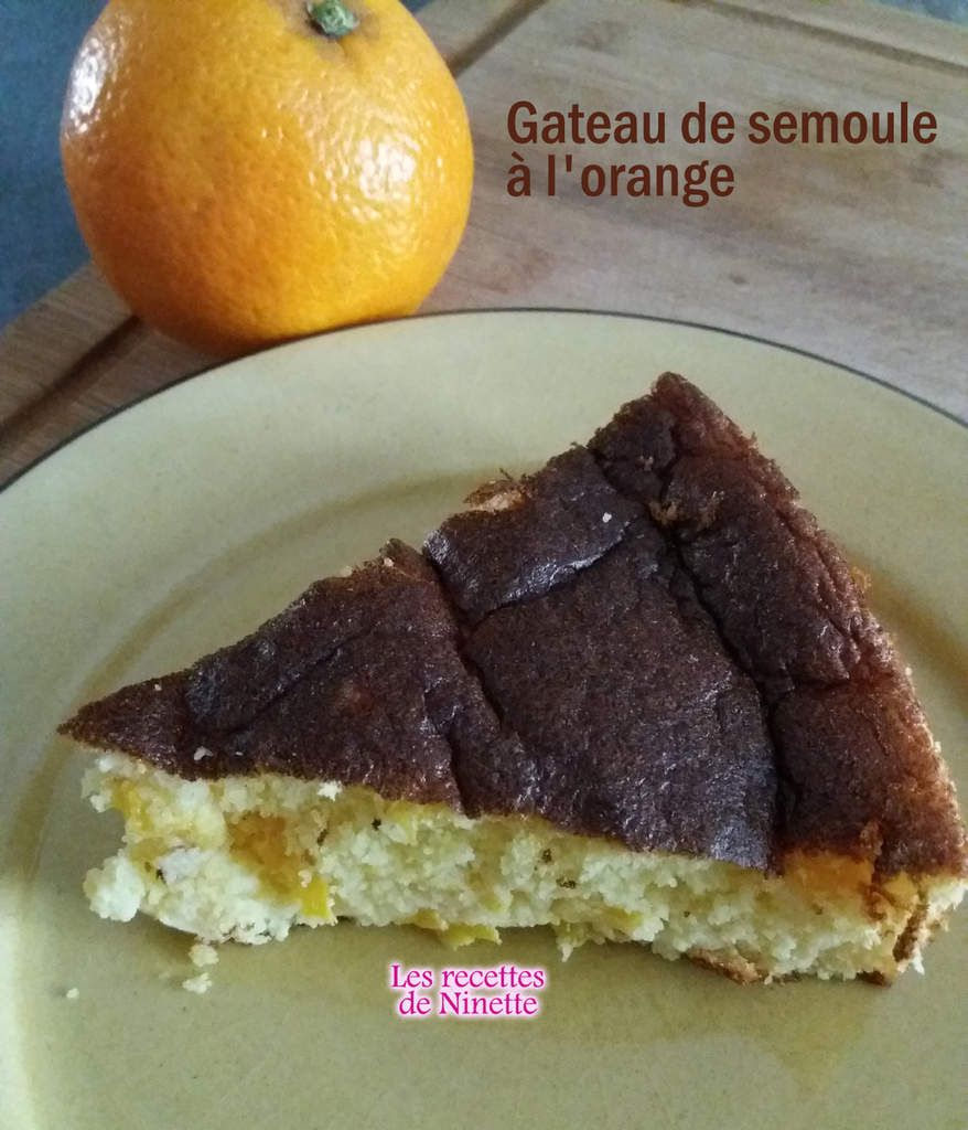gâteau de semoule à l'orange ww